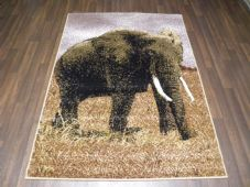 Modern Approx 6x4 120x170cm Woven Backed Elephant Rugs Sale  Top Quality Beiges